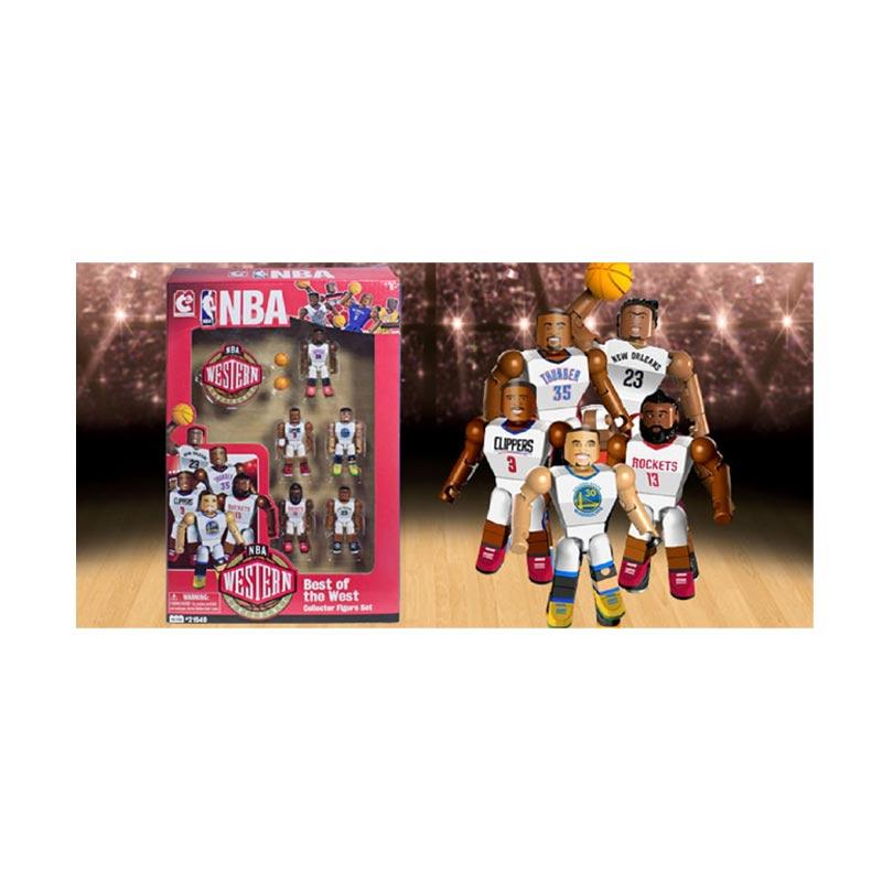 NBA C3 Construction Best Of West Collector Figure Set Lego Stlye  Blocks & Stacking Toys [Curry/Paul/Durant/Davis/Harden]