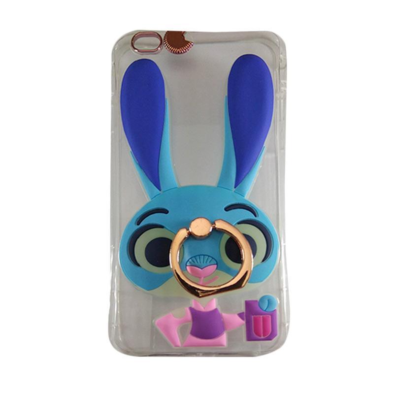harga Silicon Kartun Karakter Zootopia 3D Iringstand Softcase Casing for iPhone 6G or 6S - Blue Pink + Free Gantungan Handphone Blibli.com