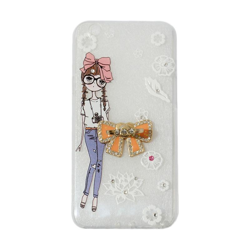 VR Softshell Swarovski Girls 1 Ultrathin Silicone Softcase with Ring Stand Diamond Casing for Oppo F1s Selfie Expert or A59