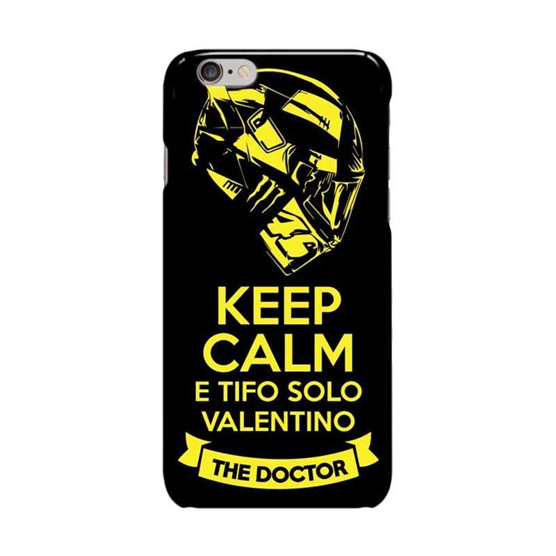 Indocustomcase Valentino Rossi Keep Calm E Solo Tifo Valentino ID12 Cover Casing for Apple iPhone 6 Plus or 6S Plus