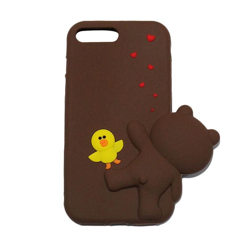 VR 3D Sally Duck Edition Silicon Softcase Casing for iPhone 7 Plus 5.5 Inch - Brown