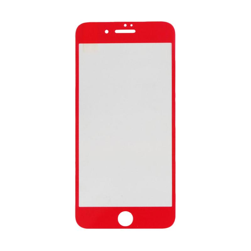 VR Tempered Glass Screen Protector for Apple iPhone 7 Plus 5.5 Inch - Red