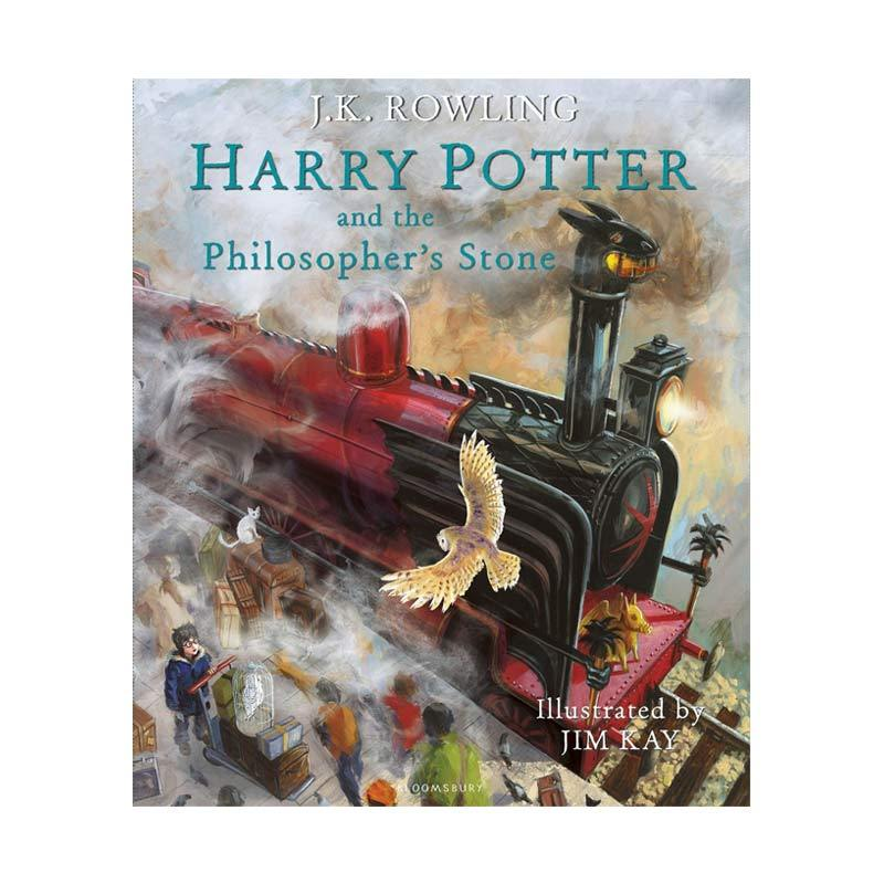 harga Bloomsbury Harry Potter and the Philosopher's Stone The Illustrated Edition Harry Potter Book 1 by J.K. Rowling Buku Novel Blibli.com
