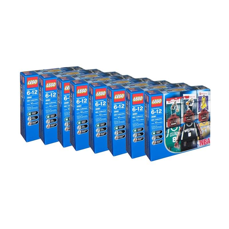 Complete Lego NBA Collector Packs LEGO 3560 3561 3562 3563 3564 3565 3566 3567 Blocks & Stacking Toys [24 NBA figures, 24 stands and 24 NBA Trading cards]