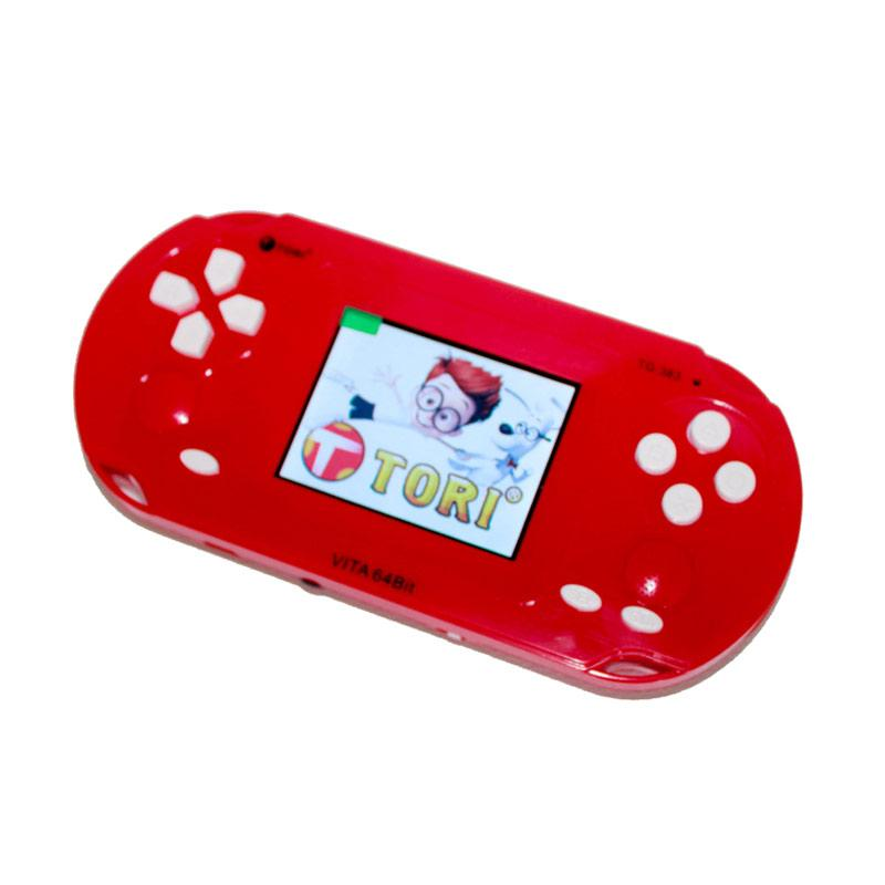 Tori TG-383 64 BIT Portable Game Console - Red Soft Pink