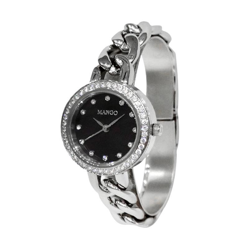 Mango MA6653L-88 Jam Tangan Wanita - Silver Black