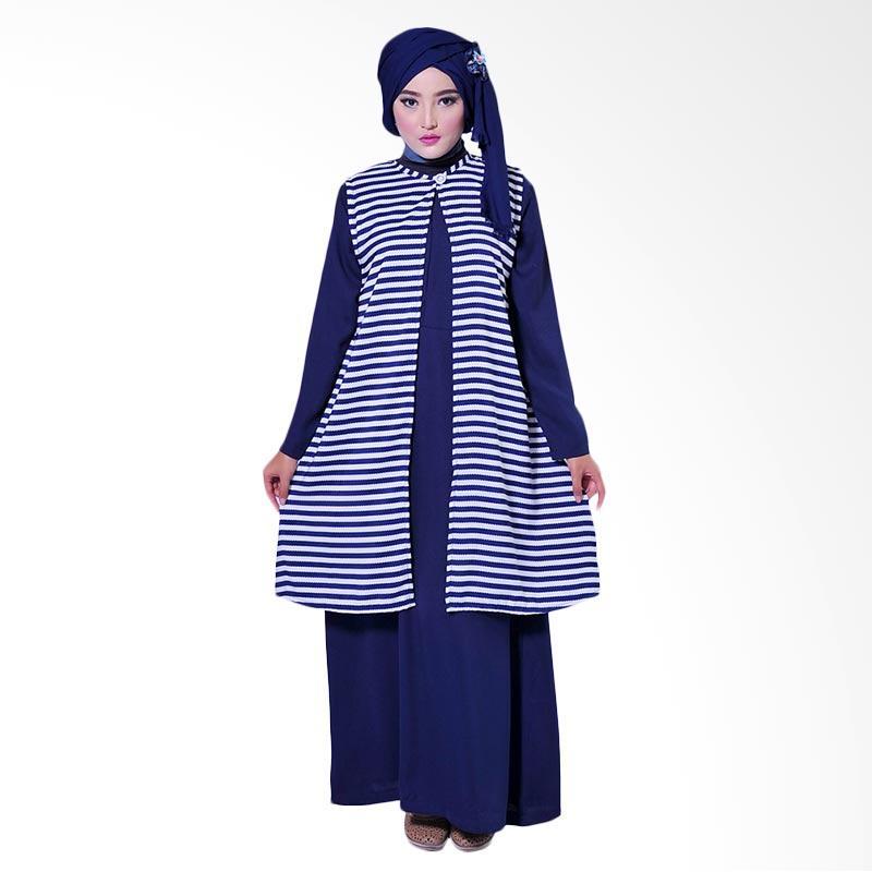 Zea Swazi Cardigan Muslim - Navy Stripes