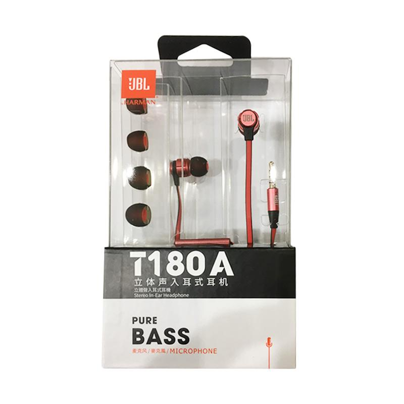 JBL T180A Headset - Red
