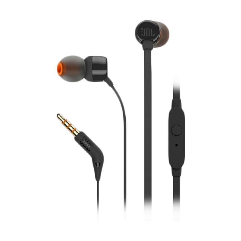 JBL T110 Headset Earphone Original [Garansi IMS] - Hitam