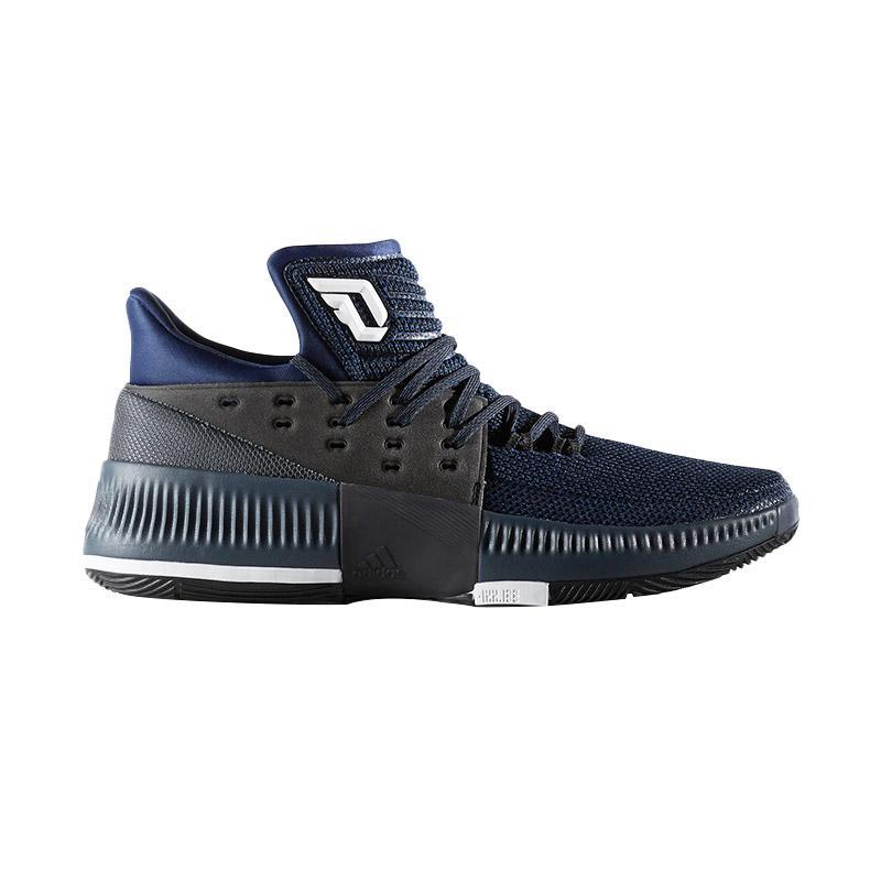 adidas Men Basketball NBA Dame LILLARD 3 Navy Sepatu Basket (BB8271)