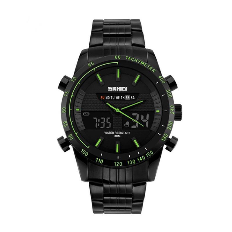 Skmei 1131 Jam Tangan Pria - Black Green