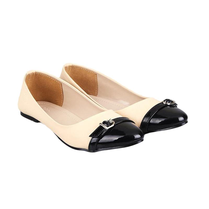 Gia Belt Flat Shoes Beige