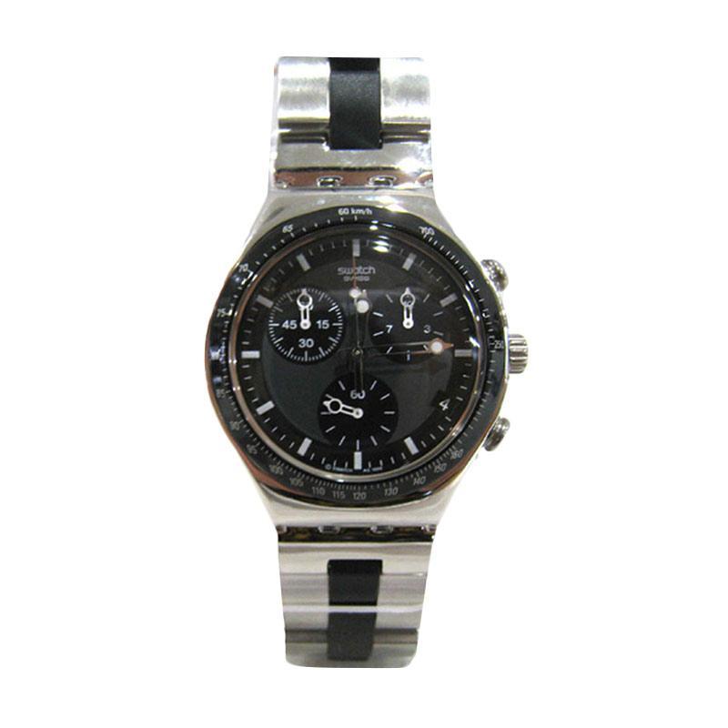 Swatch YCS410GX Jam Tangan Pria - Silver Black