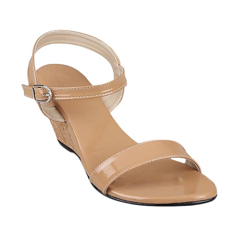GIA Luna Low Wedges Tan