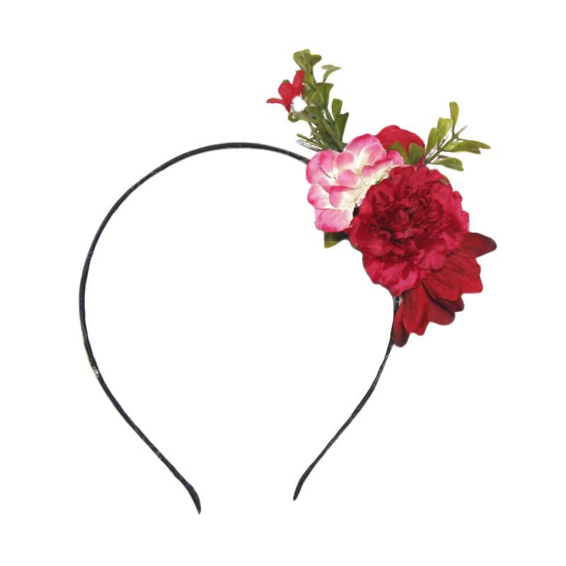 Headbands Floral Bando - Red