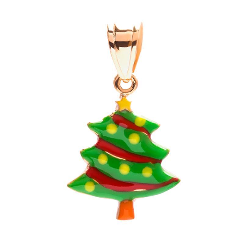 Christmas Tree Gold Kids Pendant - Liontin Emas Anak Kadar 37,5