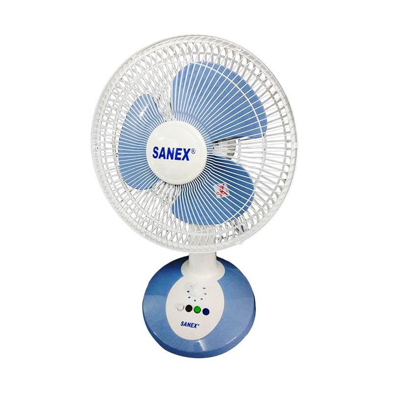 Sanex Desk Fan - Biru Muda [10 Inch]