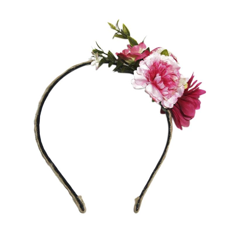Headbands Floral Bando - Pink