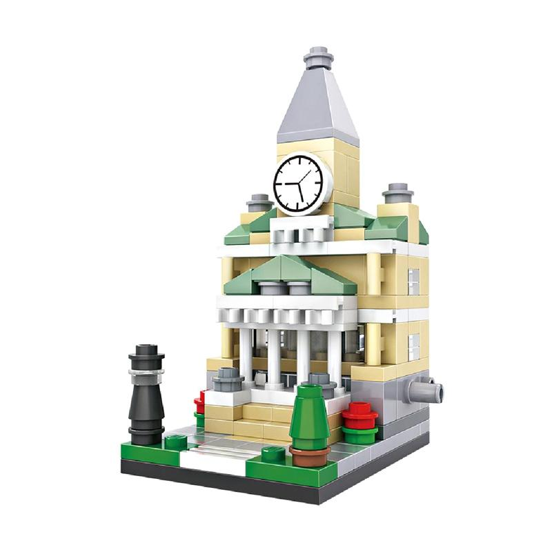 Loz 1411 Town Hall Mini Blocks [159 pcs]