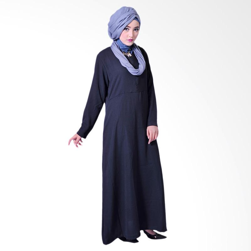 Zea Basic Fatma Dress Muslim - Hitam