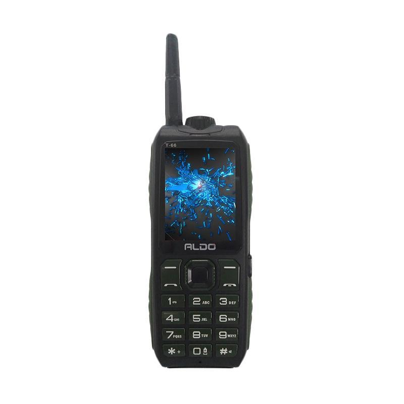 Aldo T66 Handphone - Hijau [Dual SIM/ 10000 mAh]