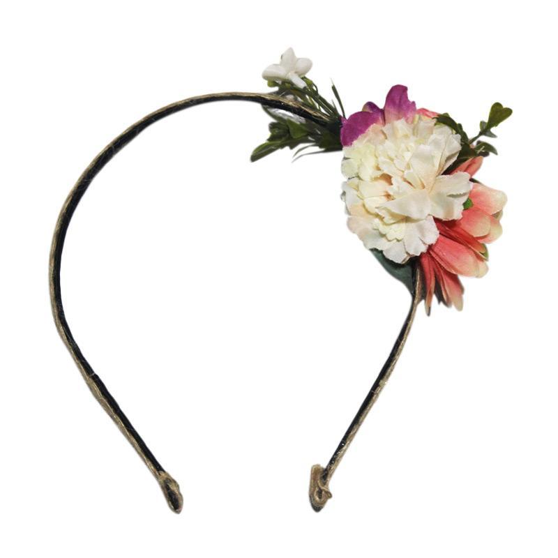 Headbands Floral Bando - Orange