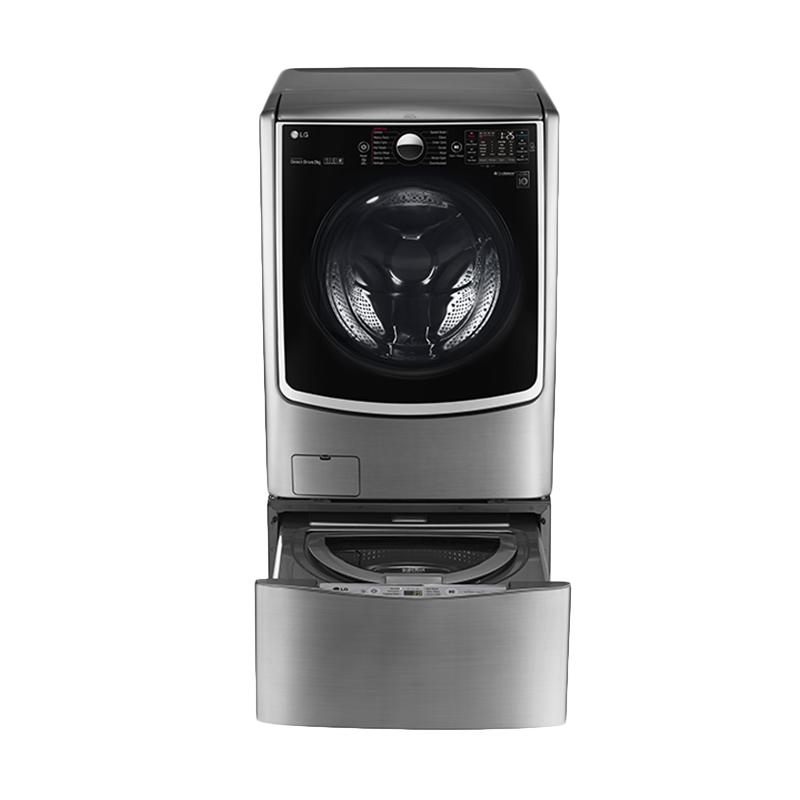 LG F2721STWV + T2735NTWV Twin Washer Mesin Cuci Front Loading 21 Kg + Top Loading 3.5 Kg