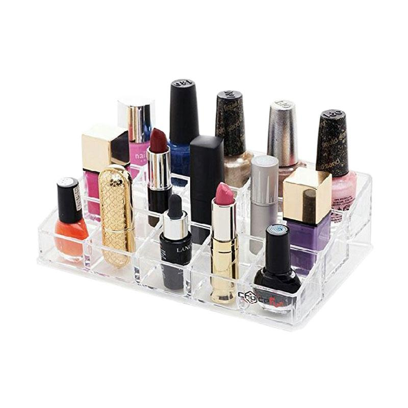 Acrylic Makeup T.Lip 15 Slot Tempat Peralatan Make Up