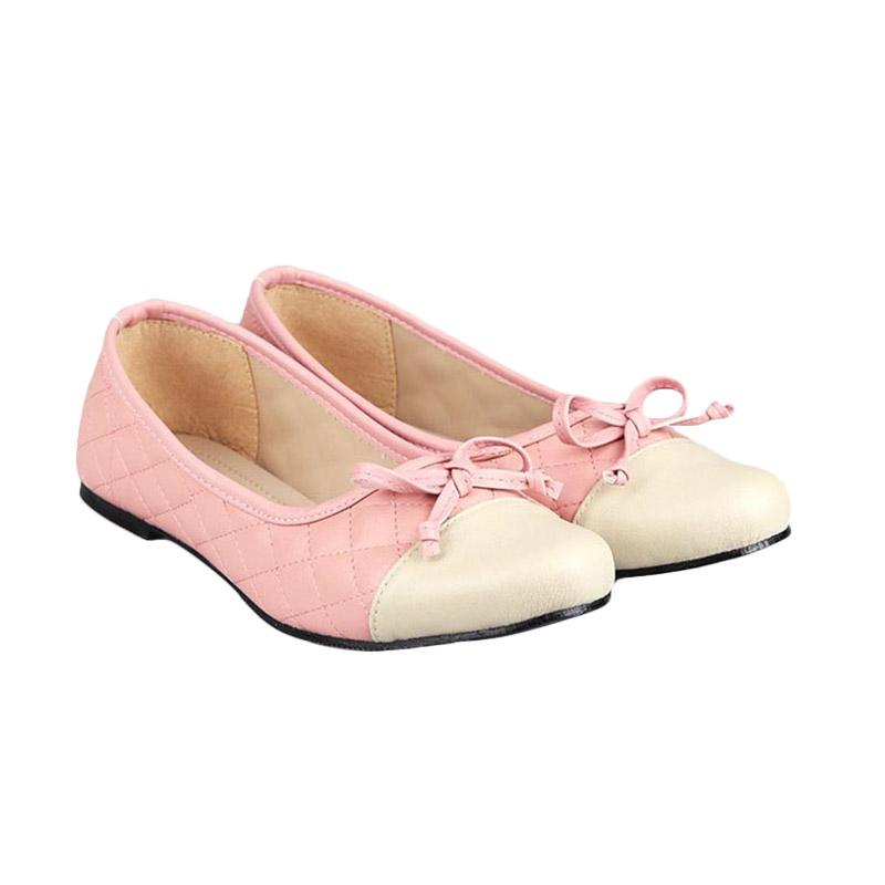 Gia Coco Flats Shoes Beige Pink