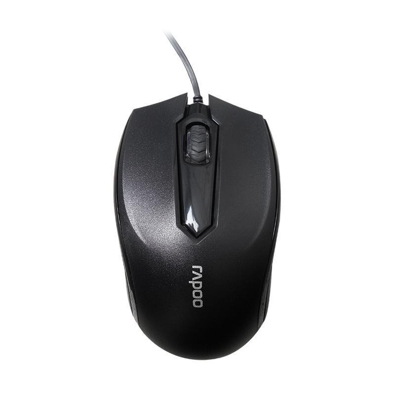 Rapoo N 1010 Mouse - Hitam