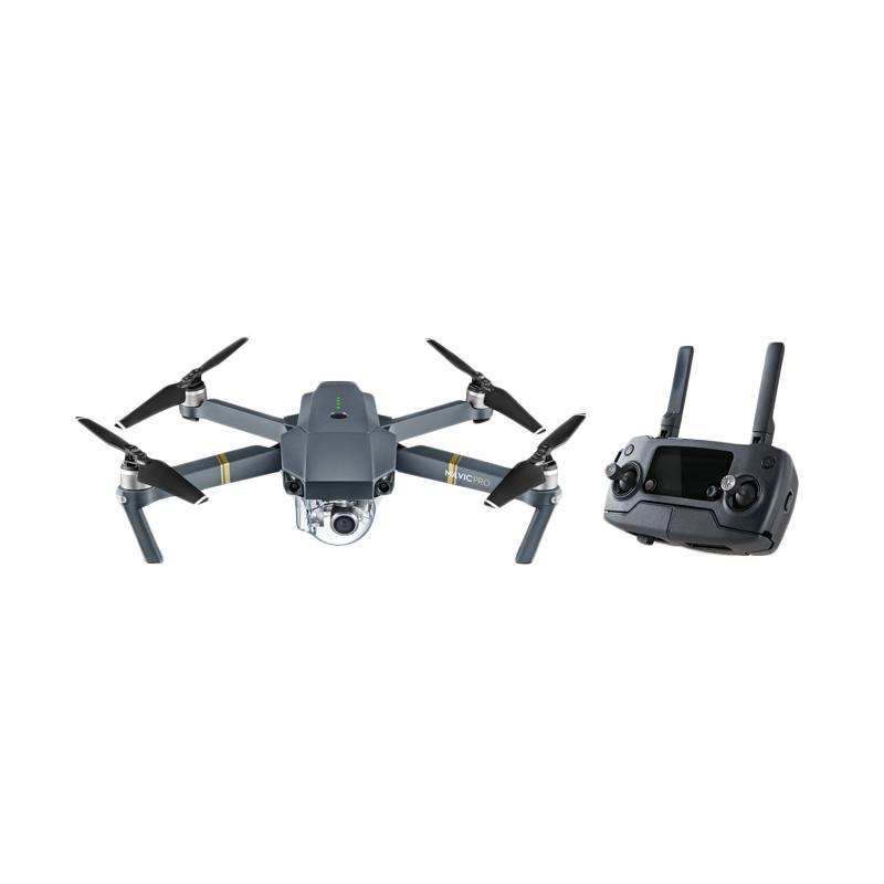 DJI Mavic Pro Combo Drone (2 Battery + Car Charger + Charging Hub + Battery to Power  Bank Adapter + Bag + Propellers)