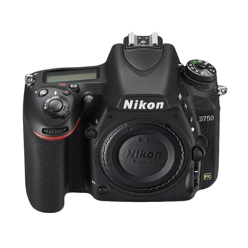 Nikon D750 BO Kamera DSLR - Black [Body Only] bonus Tas Nikon DSLR