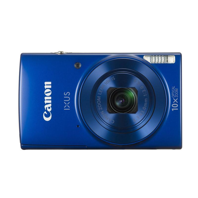 Canon IXUS 190 Camera - Blue + SANDISK SD ULTRA 16GB + SCREEN GUARD + CASE POCKET PREMIUM