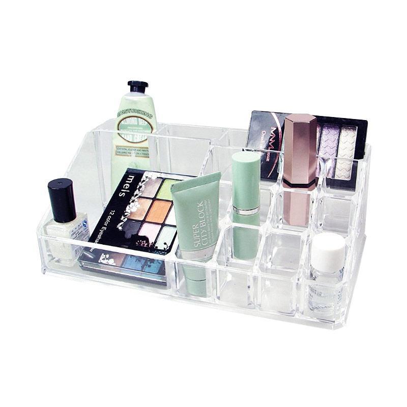 Acrylic Tempat Makeup Tipe H Clear