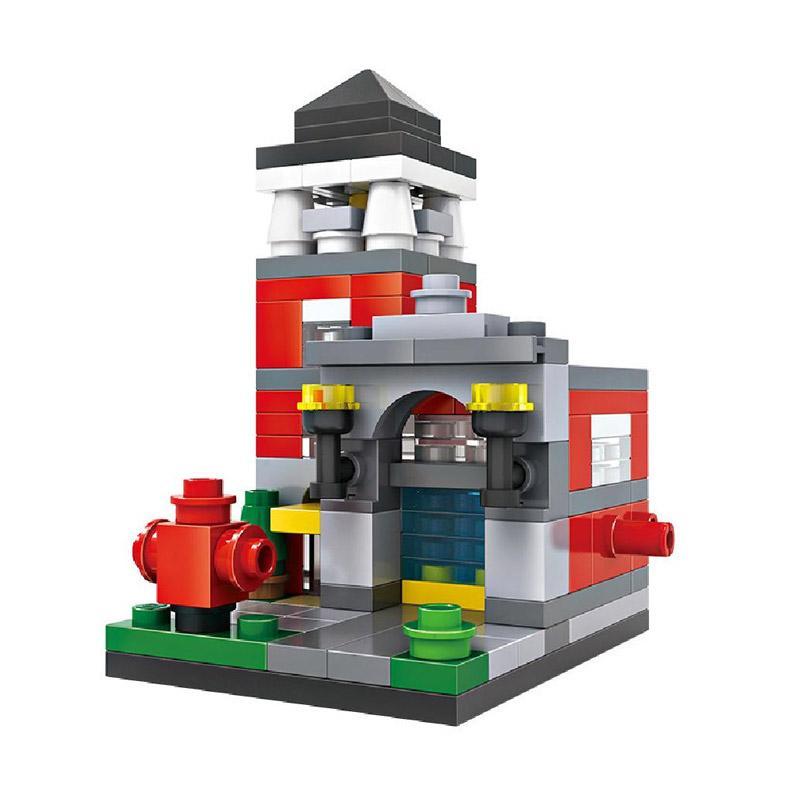 Loz Mini 1412 Fire Station Mini Blok