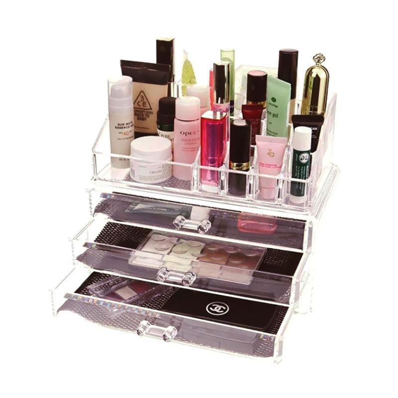 Acrylic Tipe B2 Make Up Organizer Clear