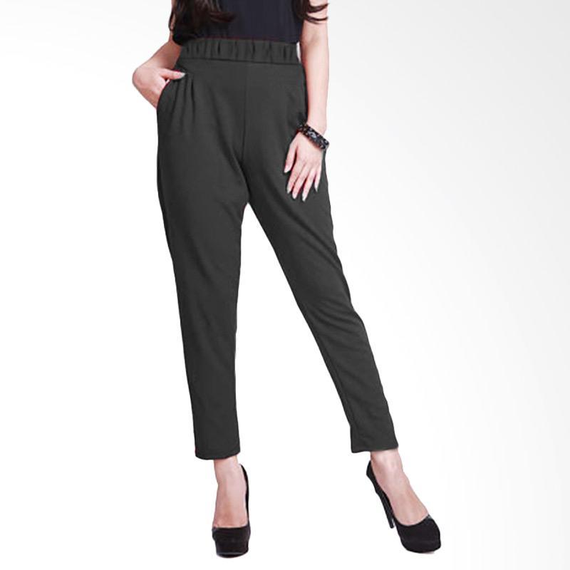 Rasya Waffle Celana Panjang Wanita - Black