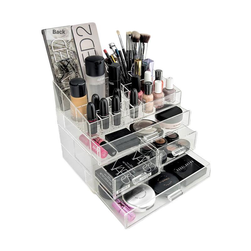 Acrylic Makeup Tipe K2 Tempat Peralatan Make Up - Putih