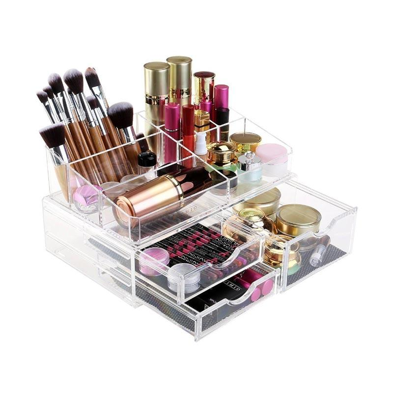 Acrylic Tipe AB Makeup Organizer Clear
