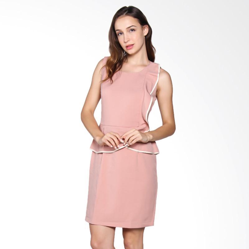 Carte Ruffle Dress - Pink