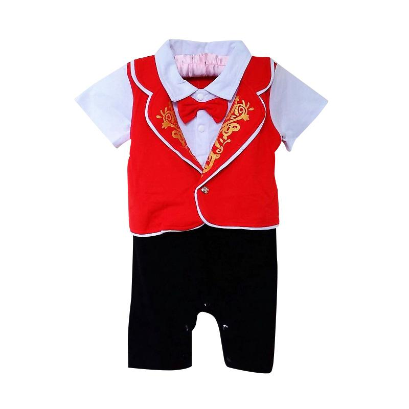 harga GBS Tuxedo Romper Anak - Red Blibli.com
