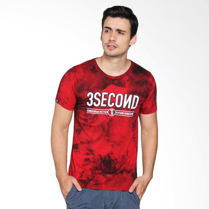 3 Second 144031712 Men T-shirt - Red