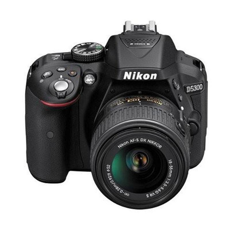 Nikon D5300 Kit 18-55mm VR  Kamera DSLR - Hitam