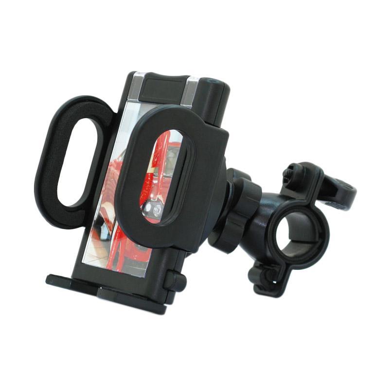 harga Phone Holder Sepeda Dan Motor Sport Model Stang  - HItam Blibli.com
