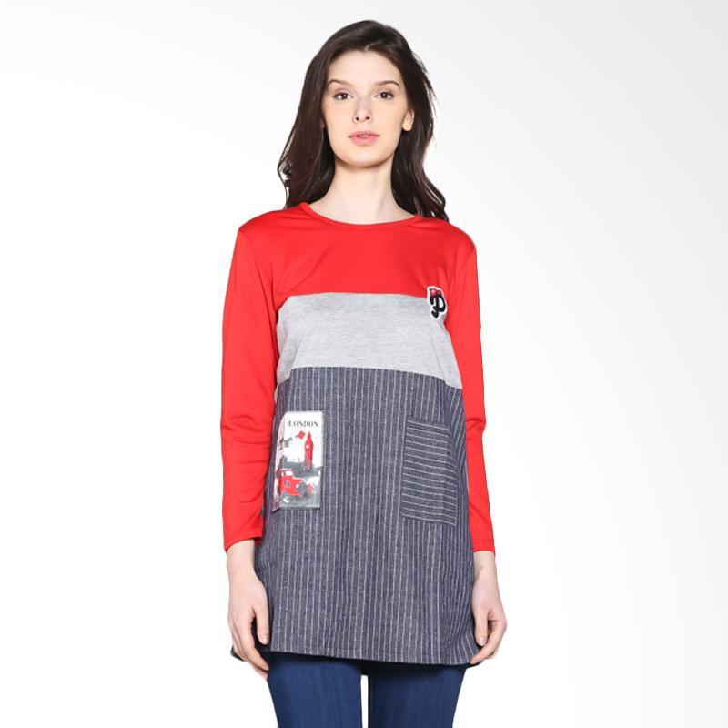 Carte Block Long Sleeve Tshirt - Red