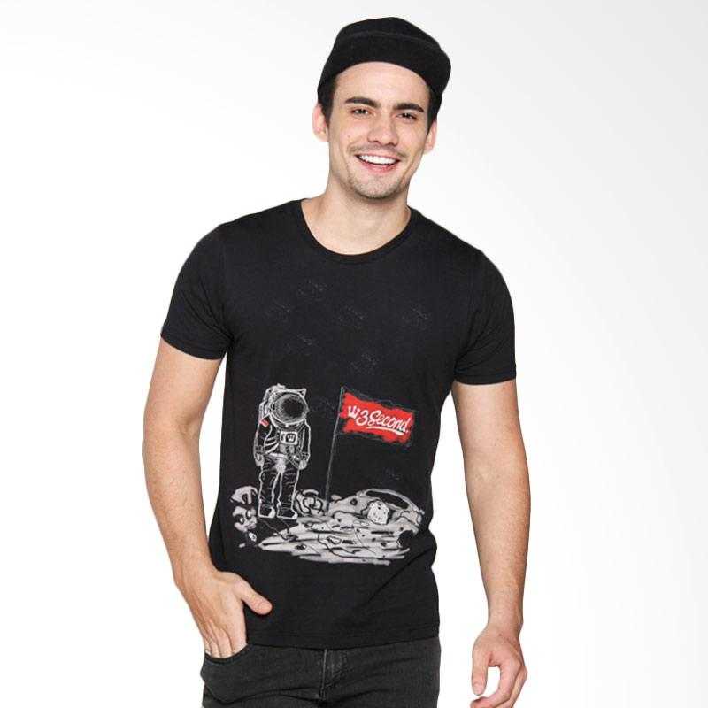 3 Second 144021712 Men T-shirt - Black