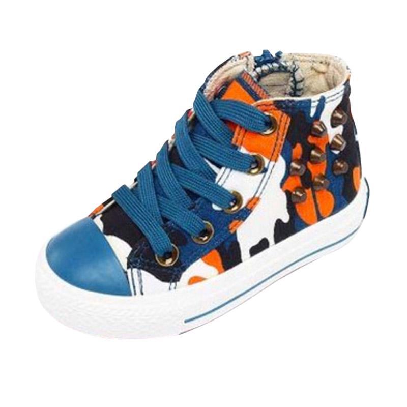 harga China Brand Army Sepatu Anak - Biru Blibli.com