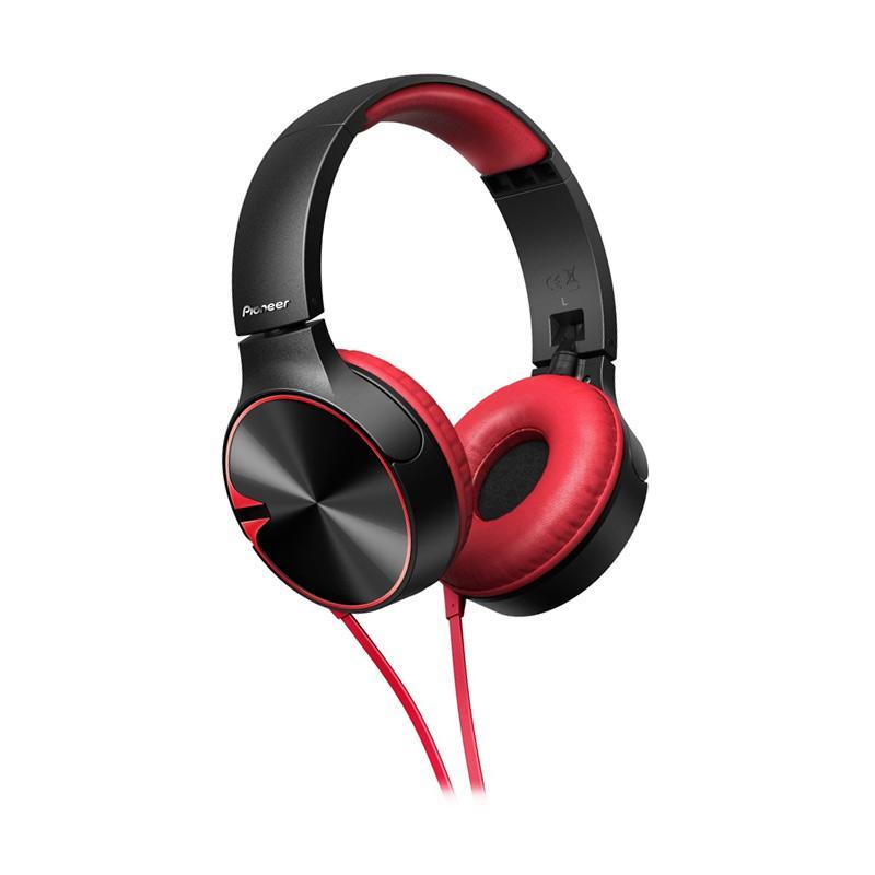 Pioneer SE MJ722T Headset - Black Red