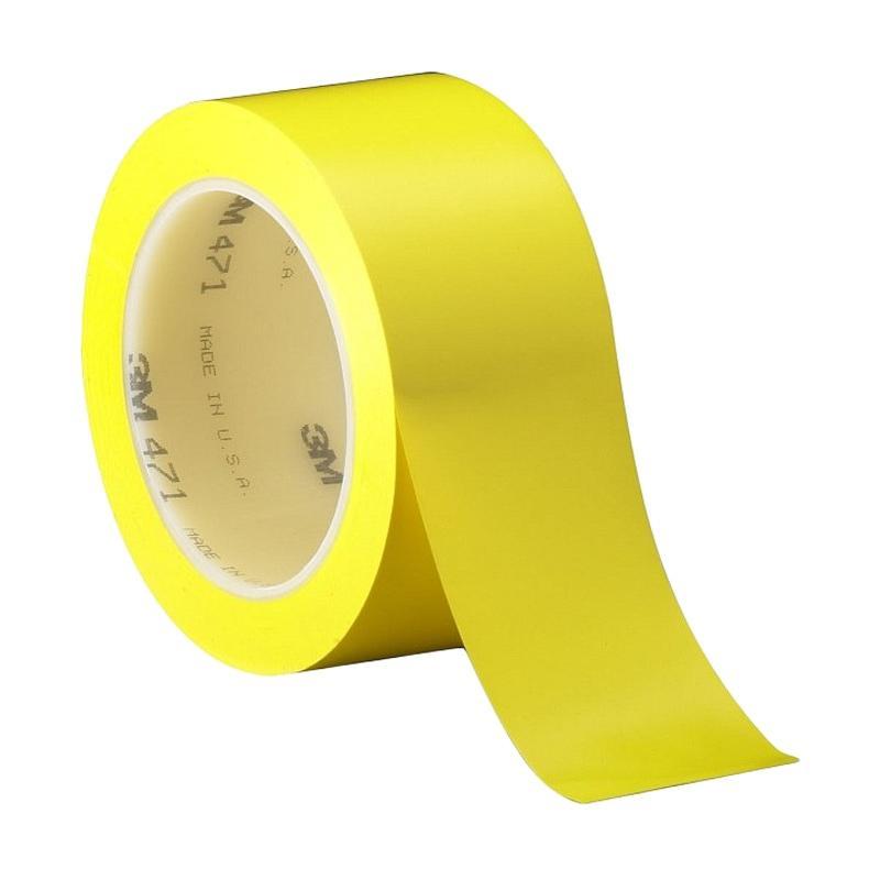 3M Vinyl Tape 471 Selotip - Yellow [2 inch x 36 yd]