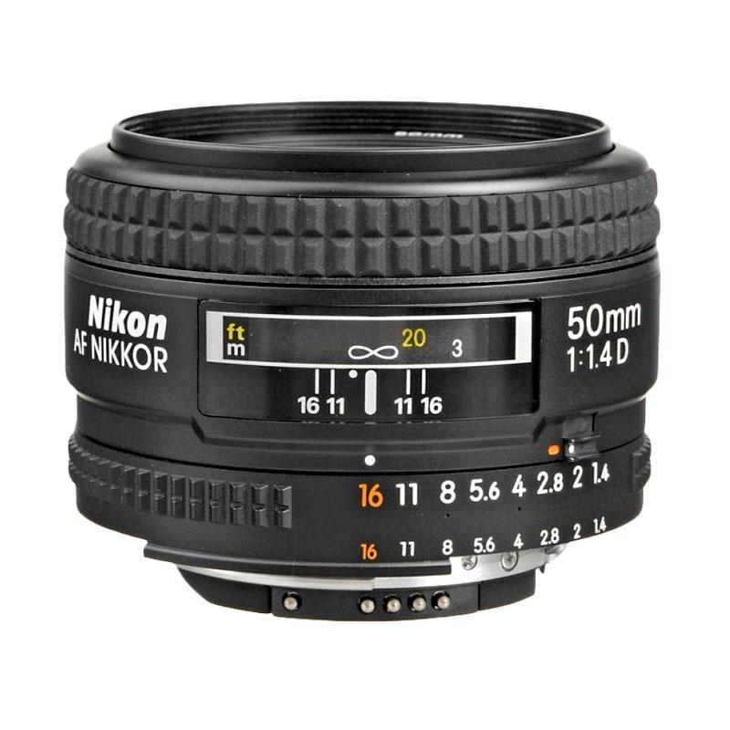 Nikon Lensa AF 50 mm f/1.4D Black